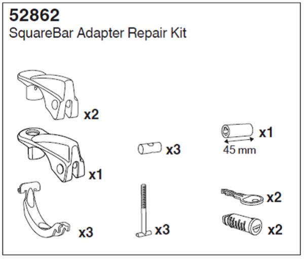 Kép: SquareBar rúd adapter készlet, 52862