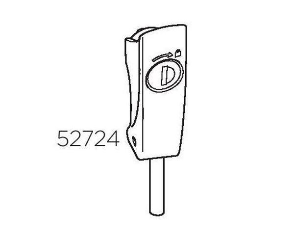 Kép: Excenteres kilincs, kulcsos, 52724